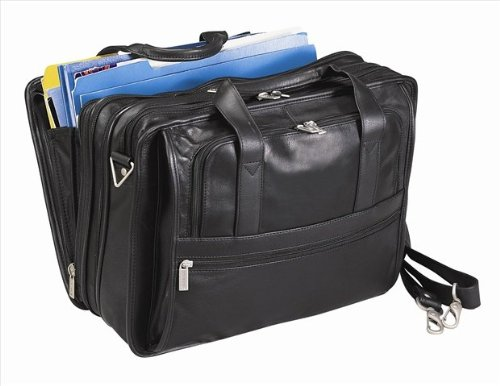 - Bellino Expandable Soft Briefcase, Black