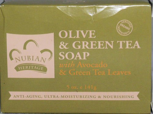 Olive Butter Soap with Avocado & Green Tea Leaves ( Four Pack) by Nubian Heritage