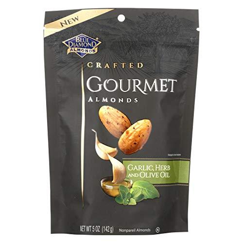 BLUE DIAMOND, ALMONDS, GARLIC&OLIVE OIL, Pack of 6, Size 5 OZ - No Artificial Ingredients Kosher Vegan Yeast Free