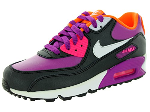 Nike Kids Air Max 90 2007 (GS) Bold Berry/White/Pink Pow/Blk Running Shoe 6.5 Kids US by NIKE