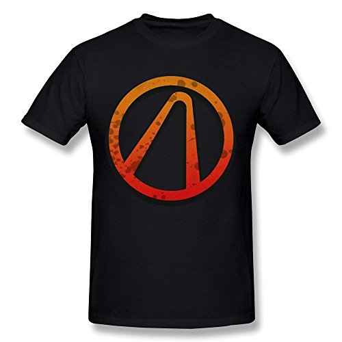 Men's Borderlands 2 Logo Short Sleeve 100% Cotton T-shirt Size M - Custom Lululemon Jackets