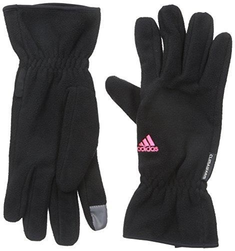 Adidas Womens Comfort Fleece Gloves  Black Bold Pink  Medium