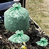 ** EcoSafe-6400 Compostable Compost Bags, .85mil, 33 x 48, Green, 50/Box **