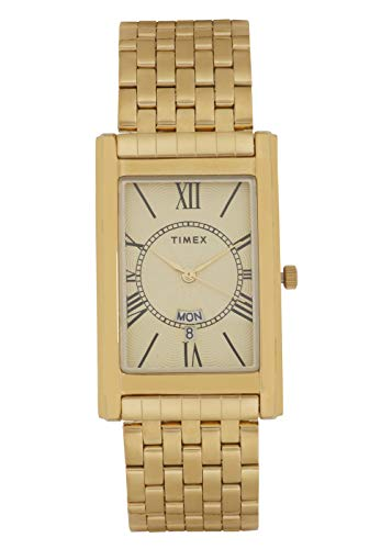 Timex Analog Champagne Dial Men's Watch-TW0TG6109
