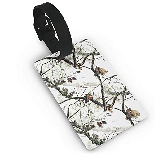 (Puyrtdfs White Realtree Camo Art PVC Travel Luggage Tag Business Card Holder Name ID Labels Set for Travel for Women Kids Men Set Cute Cruise Bulk red Fun cat PVC Size 2.2'' X 3.7'')