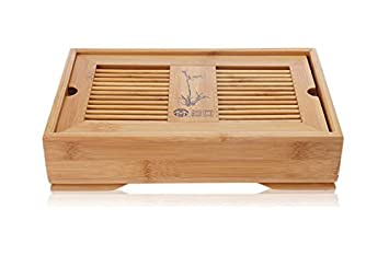 Amazon Com Yeme Bamboo Gongfu Tea Table Serving Tray 11 2 X 7 48
