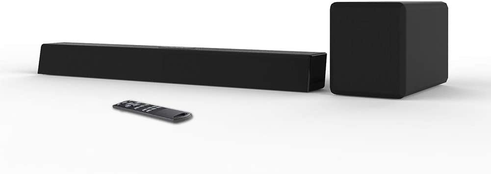 TYI -Soundbar with Wireless Subwoofer, TV Speakers for Home Cinema Sound System, Surround Sound, Built-in Chromecast, Dolby Digital, Wall Mountable, Bluetooth, Universal Compatibility