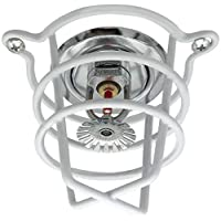 "Happy Tree (10 Pack) White Fire Sprinkler Head Guard for Both 1/2"" & 3/4"" Sprinkler Head for Protecting Flush Mount & Side Wall & Pendent Semi - Recessed Sprinkler Head"