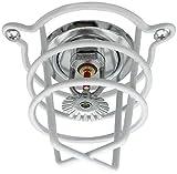 (10 Pack) White Fire Sprinkler Head Guard for Both 1/2'' & 3/4'' Sprinkler Head for Protecting Flush Mount & Side Wall & Pendent Semi - Recessed Sprinkler Head
