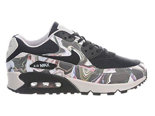 Nike Womens Air Max 90 Scarpe Da Corsa In Pelle Nero / Nero-grigio Vasto