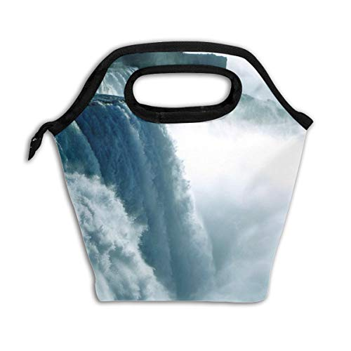 Niagara Waterfall Canada Reusable Insulated Lunch Bag Cooler Tote Box with Zipper Closure for Woman Man Work Pinic Or Travel