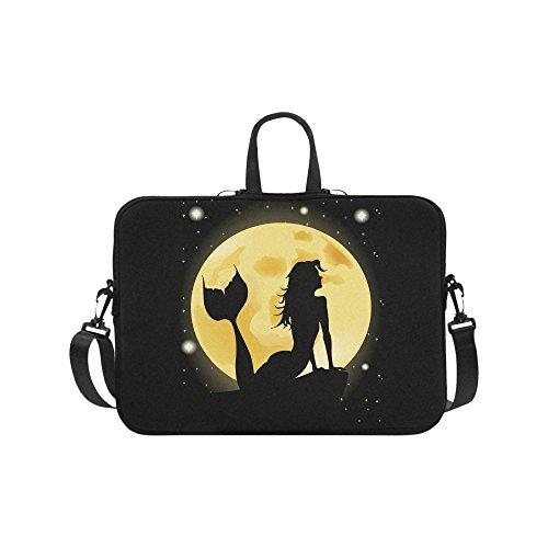 InterestPrint Mermaid Silhouette with Full Moon Waterproof N