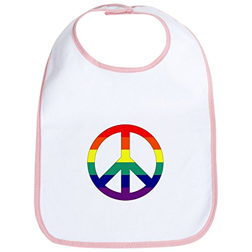Price comparison product image Royal Lion Baby Bib Rainbow Peace Symbol Sign - Petal Pink
