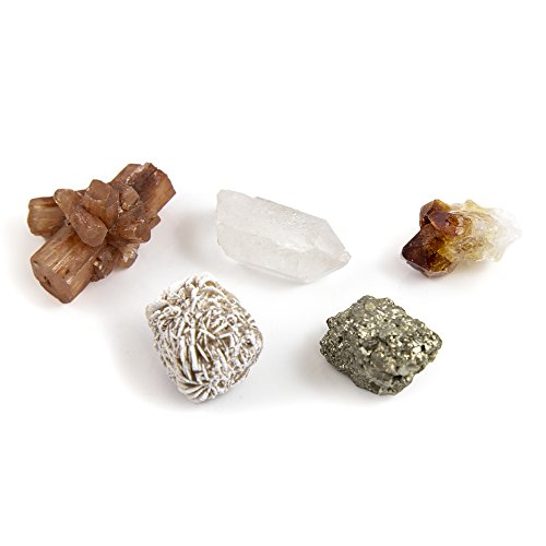 - Energy Infused Healing Crystals Kit For SUSTAINABLE PROSPERITY AND SUCCESS - Features Aragonite, Clear Quartz, Pyrite, Citrine, Desert Rose Selenite - Portable Crystal Charms For Connection With Earth