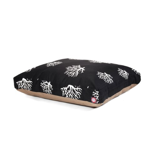 Black Coral Large Rectangle Indoor Outdoor Pet Dog Bed With Removable Washable Cover By Majestic Pet Products Review