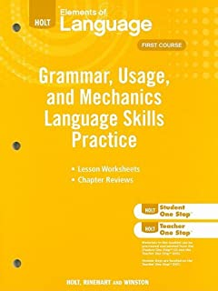Grammar usage and mechanics elements of language 1st course elements of language grammar usage and mechanics language skills practice grade 7 fandeluxe Image collections