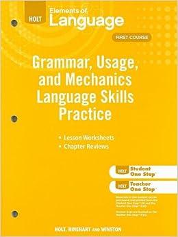 ``ZIP`` Elements Of Language: Grammar Usage And Mechanics Language Skills Practice Grade 7. vivido personal which SALIDA estilos DIMMs Update began