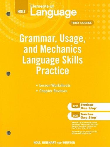 Elements of Language: Grammar Usage and Mechanics Language Skills Practice Grade 7