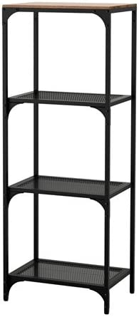 IKEA FJÄLLBO - Estantería para estantería, color negro