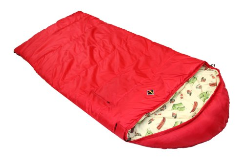 Ledge Sports Springz +25 F Flannel Lined Youth Sleeping Bag (64 X 27, Red), Outdoor Stuffs
