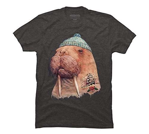Tattooed Walrus Men's X-Large Charcoal Heather Graphic T Shirt
