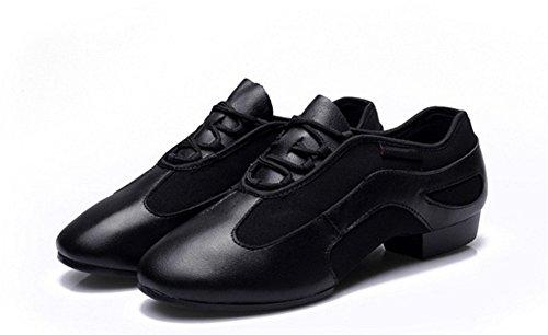 XW WX Zapatos de baile cuadrados de cuero Zapatos de baile de marinero Señoras Mesh Jazz Soft Bottom Fitness Zapatos zapatos de baile Mujer Zapatos de baile moderno 34-39 B