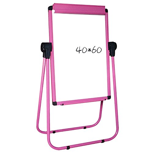 Easels Pink Children's Drawing Board Two-sided Folding Blackboard Magnetic Painting Height Adjustable Household Writing Learning Display (2 Sided Child Easel)