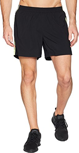 "adidas Men's Response 5"" Shorts Black/Semi Frozen Yellow Med"