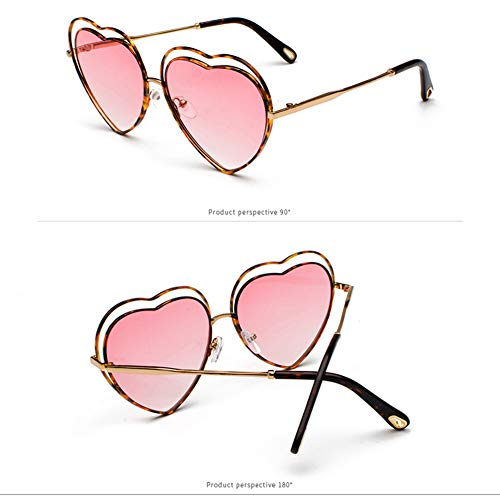 Coeur Style UV400 Z De Anti De Lunettes en Creux Lunettes Pink De Soleil Femme Rétro pour Love Forme amp;HA 66WrvTqSA