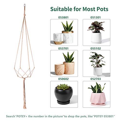 4 Legs,35/40.5/47,Brown Simple Design Indoor Outdoor Plant Pot ...