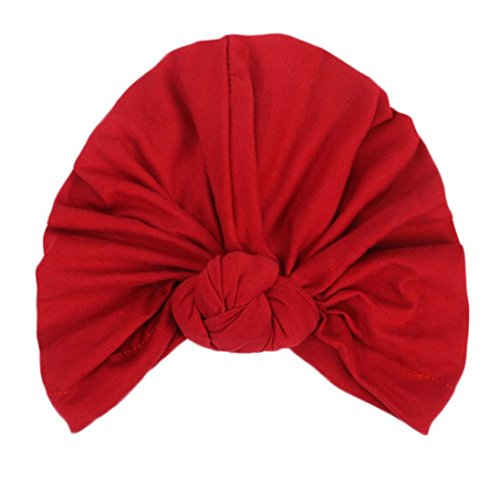 Fashion Women Warm Knit Crochet Ski Hat Boho Braided Turban Headdress Cap (Wine)
