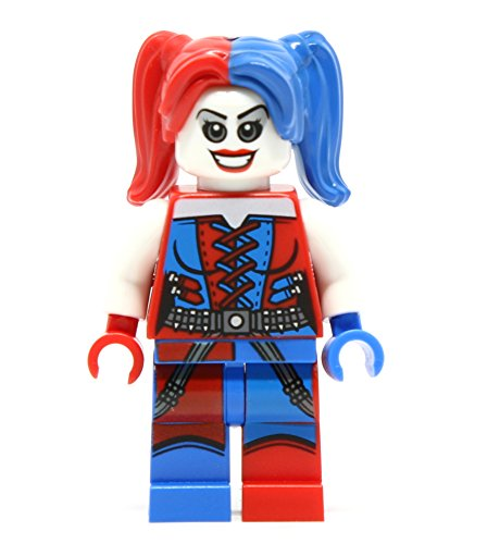 Harley Quinn with hammer lego compatible mini figure from Lego Super Heroes Batman gotham city cycle chase 76053, suicide squad