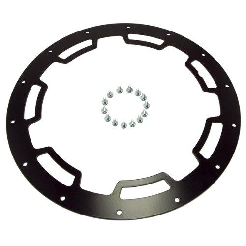 Rugged Ridge 15250.02 Rim Protector for 17' X 9'  Satin Black Aluminum Wheel