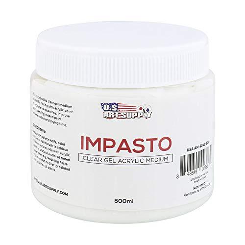 (U.S. Art Supply Impasto Clear Gel Acrylic Medium, 500ml Tub)