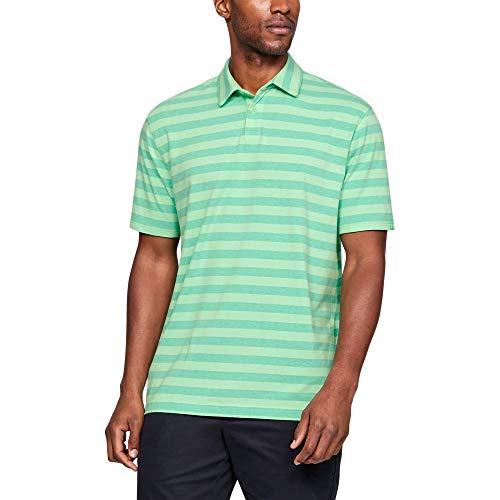 Under Armour Men's Charged Cotton Scramble Stripe Polo, Green Typhoon (375)/Green Typhoon, ()