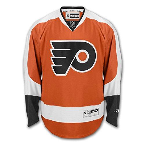 Reebok Philadelphia Flyers Patch - Youth Philadelphia Flyers Reebok NHL Alternate Premier Jersey - Orange (Youth S/M)