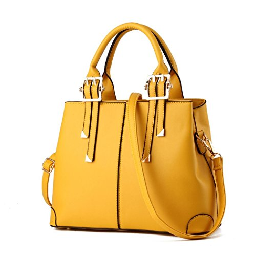 Ryse Womens Fashionable Classic Metal Double Buckle Temperament Handbag Shoulder - Designer Mcqueen Lee