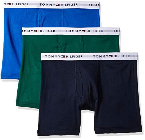 Tommy Hilfiger Men's 3-Pack Cotton Boxer Brief,Vibrant Royal,Large(36-38) (Tommy Hilfiger Shop Online)