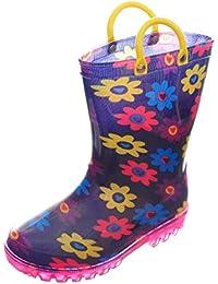 Girls' Light-up Rubber Rain Boots