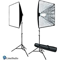 LimoStudio 700W Photography Softbox Light Lighting Kit Photo Equipment Soft Studio Light Softbox 24X24, AGG814