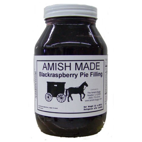 - Amish Buggy Pie Filling, Black Raspberry, 32 Ounce (Pack of 12)