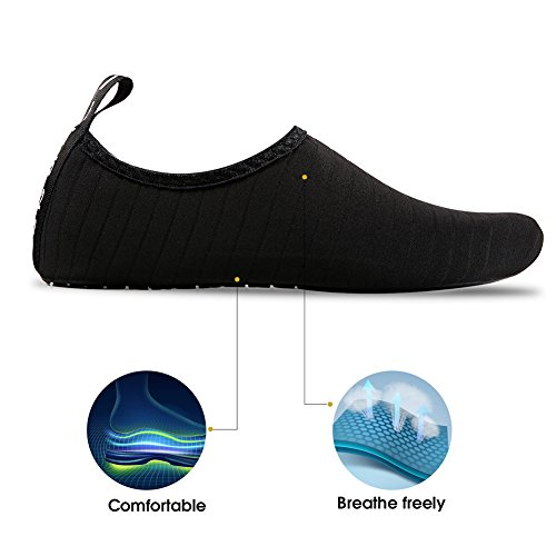 Et Yoga Barefoot Chaussure Noir Schage Hmiya Shoes Water Rapide Pour Bain Rayures Aqua Chaussettes Beach De Femmes Hommes gnXrwAxPX8