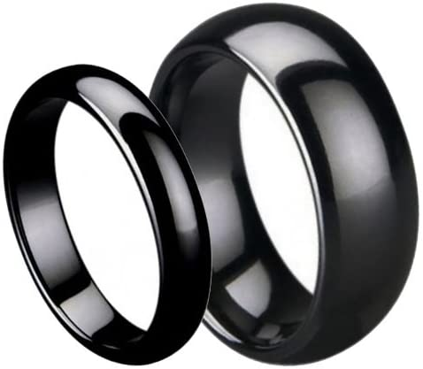 Black Ceramic Ring BlackCeramicSet1-33 product image 2