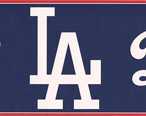 Los Angeles Dodgers MLB Baseball Team Fan Sports Wallpaper Border Modern Design, Roll 15' x ()
