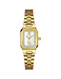 Wittnauer WN4051 Women's Mini Goldtone 3-Hand Gold Bracelet Band Pearl Dial Watch