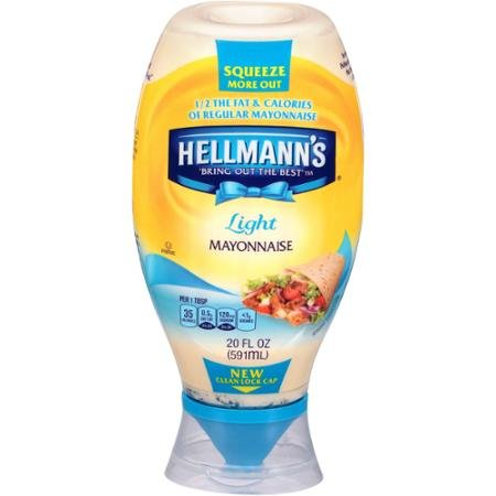 Hellman's Light Mayonnaise Squeeze Bottle 3 pack 20 oz.