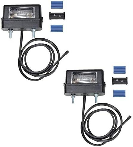 Fkanhängerteile 2 X Aspöck Regpoint Kennzeichenleuchte Small Mit Birne 0 8m Kabel Dc Verbinder Auto