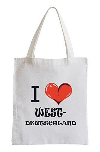 Amo Germania Ovest Fun sacchetto di iuta
