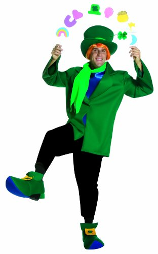 Rasta Imposta Lucky, Green, One (Lucky Leprechaun Adult Costumes)