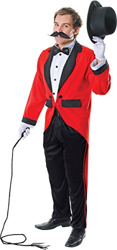 Mens Circus Lion Tamer Costume (Adults Halloween Fancy Dress Party Circus Lion Tamer Outfit Ringmaster Costume)